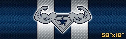Creative tints Lone Star Power Dallas Pride Car Truck Rear Window Graphic Decal (58-by-18-inch)