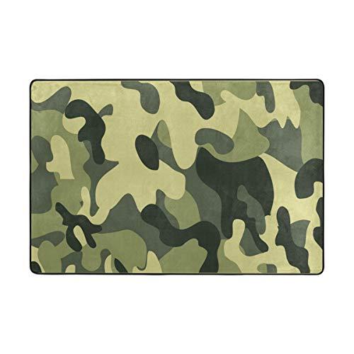 Vipsa Teppiche aus Polyester, rutschfest, für Wohnzimmer, Esszimmer, Schlafzimmer, Küche, Camouflage-Muster, Polyester-Mischgewebe, multi, 36 x 24 inch