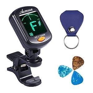 Asmuse™ Digital Stimmgerät Clip on Tuner Chromatisches für Akustikgitarre Konzertgitarre Westerngitarre Bass Gitarre Violine Geige Cello Ukulele