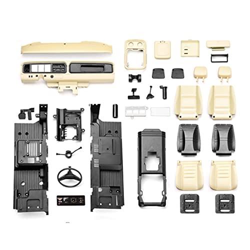 Libroty Rc Car Interior Simulation Central Control Seat Parti di Modifica Accessori per Traxxas TRX-4 Bronco 1/10 Rc Ricambi per Auto - Creamy-White