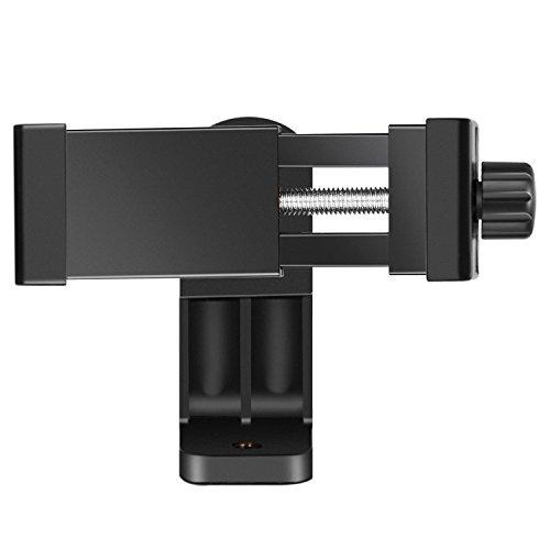 Neewer Smartphone Halter Vertikale Halterung mit 1/4-Zoll Stativhalterung Handy Klemme für iPhone iPhone11/11 Pro/11 Pro Max Samsung Galaxy und andere Handys innerhalb von 1,9-3,9 Zoll (schwarz)