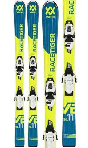 Völkl Racetiger JR Yellow/Motion Skiset 100-120 `19 Länge 120, Montage Montage nach Sohlenlänge