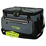 Arctic Zone Titan Deep Freeze 16 Can Zipperless Cooler, (Gray & Green)