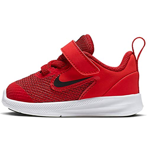 Nike AR4137-600: Toddler's Downshifter 9 Gym Red/Black/White Runninig Sneakers (5 M US Toddler)