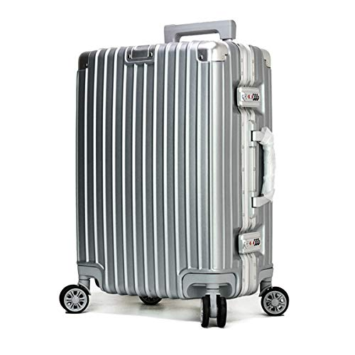 XIANGSHAN Alloy Material Easy Trolley Case, Durable Super Storage Luggage Bag, Wheel Travel Rolling Boarding, 20' 24' Inches (Color : Black, Size : 24inch)