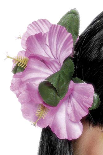 Smiffys Damen Hawaii Blumen Haarspange, One Size, Rosa, 21738