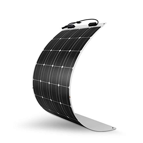 Rabbfay 100W16V Monocrystalline Flexible Solar Panels, Ultra-thin and Flexible Mobile Charging Power Supply for RV and Yacht,1