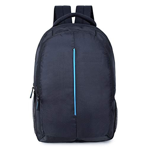 Prajo Black Polyester 21 LTR Laptop Backpack I School Bag
