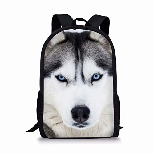 POLERO Rucksack Schulrucksack Schultasche Schulranz Kinderrucksack Daypack Backpack Kinderrucksäcke Schulrucksäcke mit Husky Print für Kinder Student Junge Schule