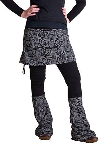 Vishes – Alternative Bekleidung – Rock- Schlag- Hosen Kombination – Lange Größe Schwarz 40 bis 42