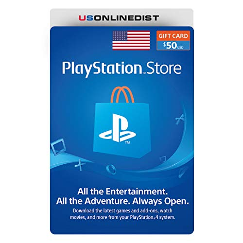 Sony Playstation Network $50 USD Card - PSN 50 Dollar - PS4 PS3 PSP USA Only