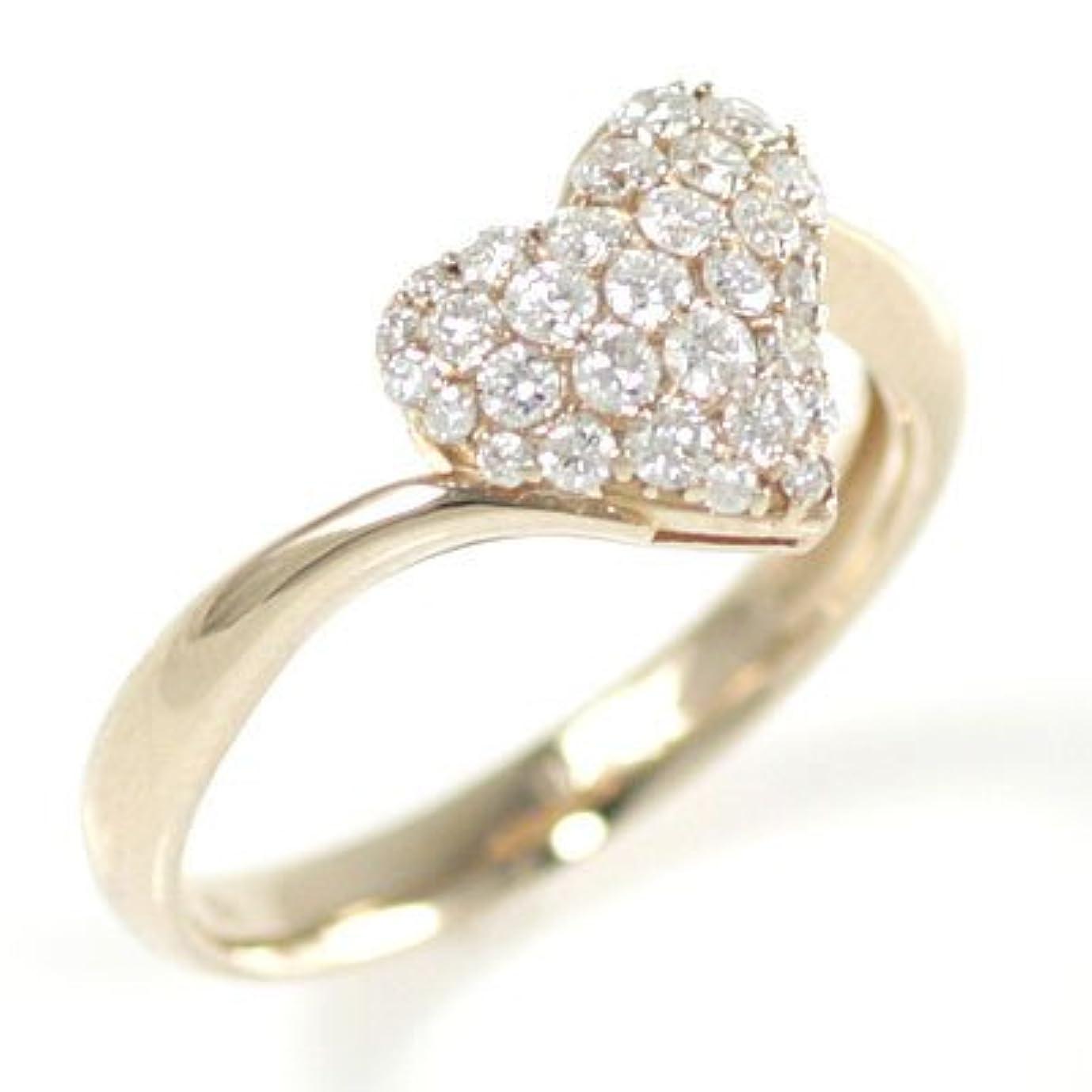 代わって藤色理想的にはK18ピンクゴールドダイヤモンドリング 0908sa #12