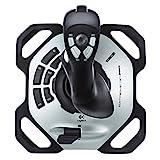 Logitech G Extreme 3D Pro Joystick, Drehknopf Rudersteuerung, 12 Programmierbare Tasten, 8-Wege Rundblickschalter, Stabiler Sockel, Schnellfeuerauslöser, USB-Anschluss, PC, Schwarz/Silber