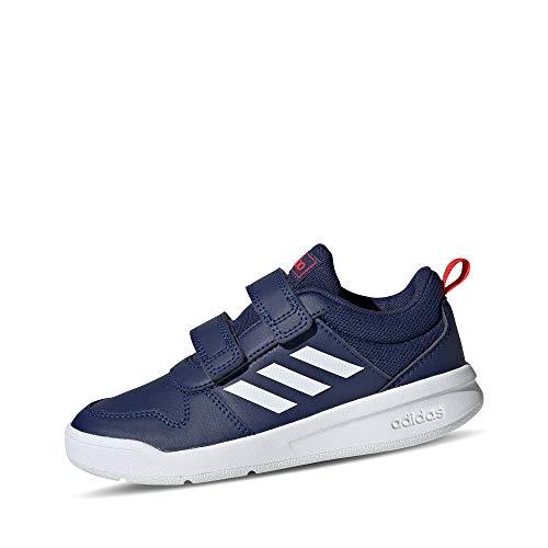 adidas Unisex-Child Tensaur Road Running Shoe, Dark Blue/Footwear White/Active Red, 32 EU