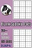 Blank Sudoku Pads: 200++ Blank Sudoku 9x9 Grids
