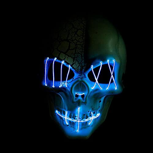 Mscara de Halloween LED de miedo, mscara de luz LED para Halloween, Navidad, carnaval, festival, disfraz de cosplay