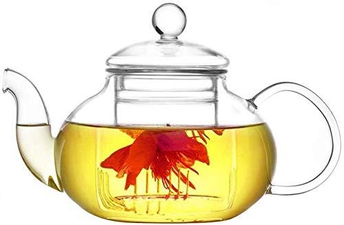 Bouilloire induction Théière de bureau avec Infuser Théière en verre Borosilicate Verre Tea Piles Tea Filtre de thé pour le thé en feuilles en vrac pour la maison en plein air WHLONG