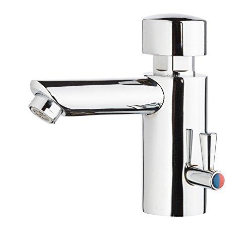 Sanixa MC9087 Waschtisch-Armatur zeitgesteuert | Kaltwasser selbstschließend Mischerarmatur Spezialarmatur Selbstschluss-Ventil zeitbegrenzt