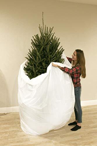 Jumbo Aufbewahrungstasche zum Entfernen von Weihnachtsbaum, für Bäume bis zu 2,7 m, biologisch abbaubar, recycelbare Plastiktasche, Weihnachtsbaumrock