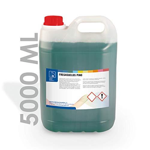IQG Fregasuelos Concentrado 5L. Limpiador de Suelos perfumado para Todo Tipo de Suelos (terrazo, mármol, cerámica, parket, etc). (Pino)