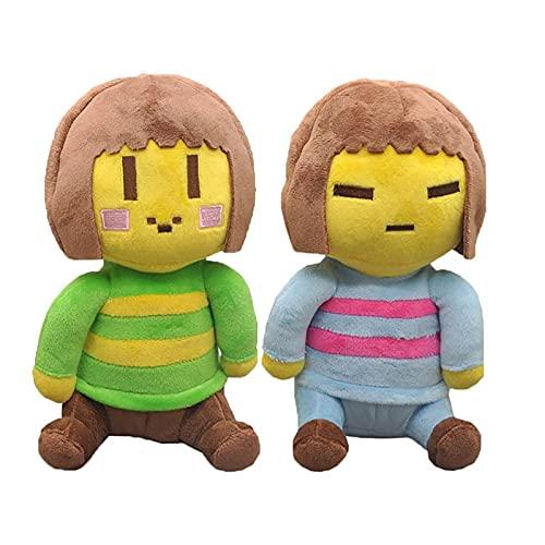 Peluche 2 unids / Lote 20 CM Juego Undertale Juguetes de Peluche Chara Frisk Soft Sans Juguetes de Peluche muñecos para niños Regalos de cumpleaños