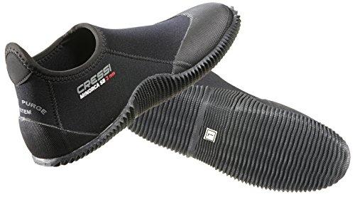 Cressi Füßling/Badeschuhe MINORCA Short Dive Boot - Gr. L - 42/43 - Black