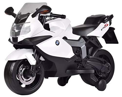 giordano shop Moto Elettrica per Bambini 12V BMW K1300S Bianca