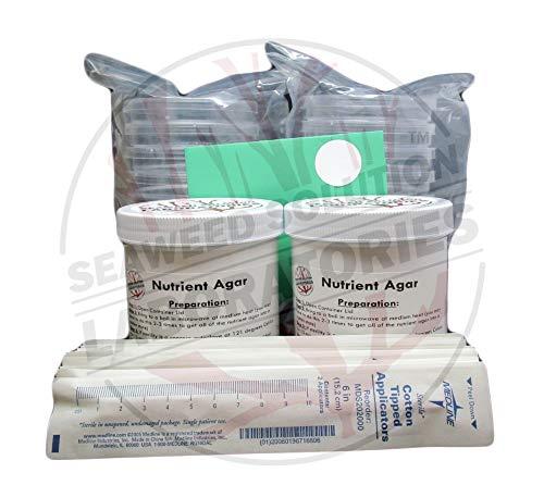 Platos de Petri (20 con tapas) con agar nutriente esterilizado