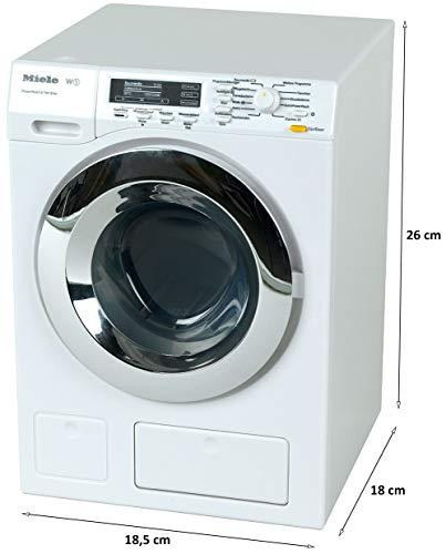 Theo Klein 6941 Lavadora Miele, Cuatro programas de lavado y sonido original, Funcionamiento con y sin agua, Medidas: 18…