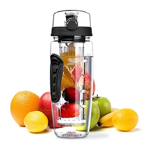ZZDH Water Bottle Fruit Infuser Water Bottle Juice Shaker Sports Lemon...