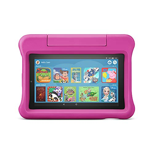Fire 7 Kids Edition Tablet | 7' Display, 16 GB, Pink Kid-Proof Case