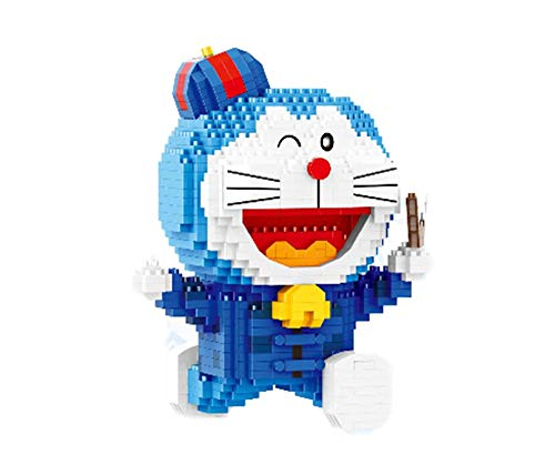 QSSQ Micro Mini Blocks Doraemon Building Model Set, 3D Puzzle Architecture Toys Regalos para Boy and Girl - Multi-Style,G