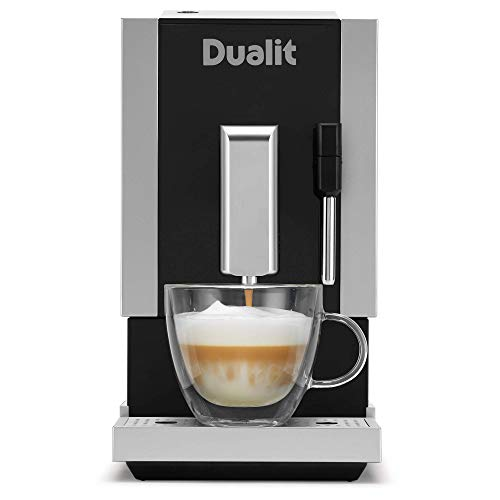 Dualit Bean to Go Machine - Barista Quality Professional Coffee Machine - Built in Coffee Grinder & Steam Wand Milk Frother - Espresso, Lungo & Double Shot Functions - Bean To Cup Coffee Maker