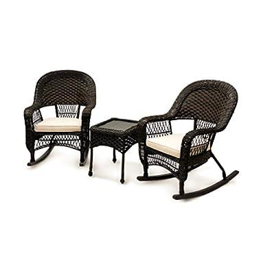American Patio 3P-ROCKER-1 3-Piece Rocking Set Chair, Espresso