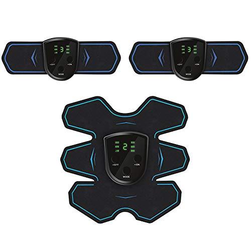 Yaosh Abs Trainer, EMS Muskelstimulator, Home Gym Gürtel, Trainingsgeräte für Männer und Frauen mit einem LCD-Display & USB aufladbare