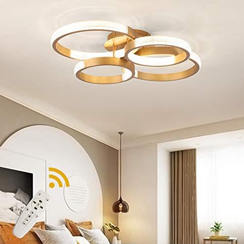 Ganeed Moderno Dimmerabile Plafoniera a LED, Oro Lampada Soffitto a LED in Acrilico a Forma di Cristallo, 168W Lampadario con Telecomando per camera da letto Soggiorno Sala da Pranzo, 3000-6500K