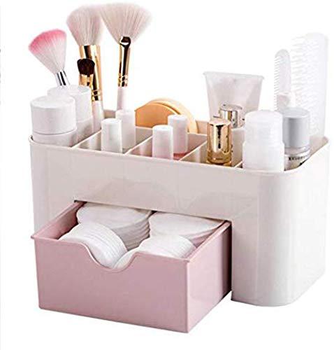 Wakerda Organisateur De Maquillage Boîte De Rangement Cosmétique Boîte De Rangement Pour Rouge à Lèvres Tiroir Cosmétique, Rose