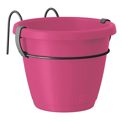 Emsa Hängetopf für den Balkon, Ø 20 cm, Pink Hell, City, 517627