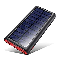 kilponen's 26800mAh solar and wall charged external battery
