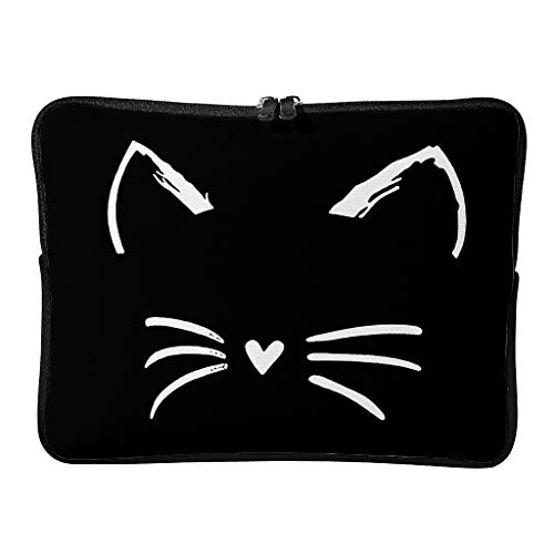 cat face Laptop Durable Water Resistant Lightweight Basics 10-17 Zoll Design for The Business Professional Travel Commuter White 13 Zoll