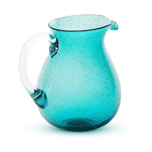 Caraffa in vetro con manico Memento Originale Turchese