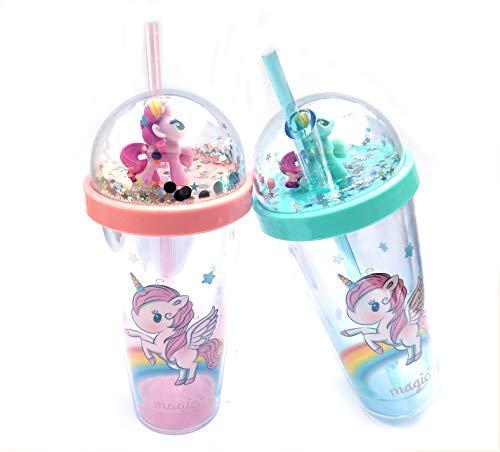 DEALPICK AMZY Superior Unicorn Princess and Magic Gifting Juice and Water Glass for Kids (Unicorn Magic - Multi)
