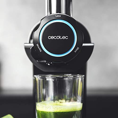 Cecotec Extractor de Zumo Juice&Live 2000 EasyClean. 150 W, Filtro EasyClean, Velocidad Lenta 70 RPM, regulador de Pulpa, 3 Niveles de licuado, tapón antigoteo, Tambor con Doble Salida