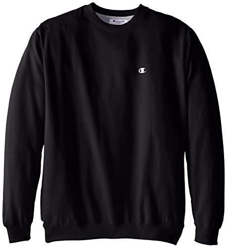 Champion Men's Big-Tall Fleece Crew Sweatshirt, Black, 3X/Tall
