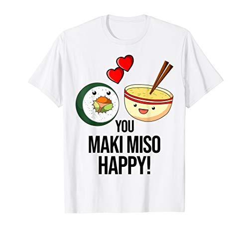 Lustig Sushi Maki Japanisches Essen Spruch Wasabi Soja T-Shirt
