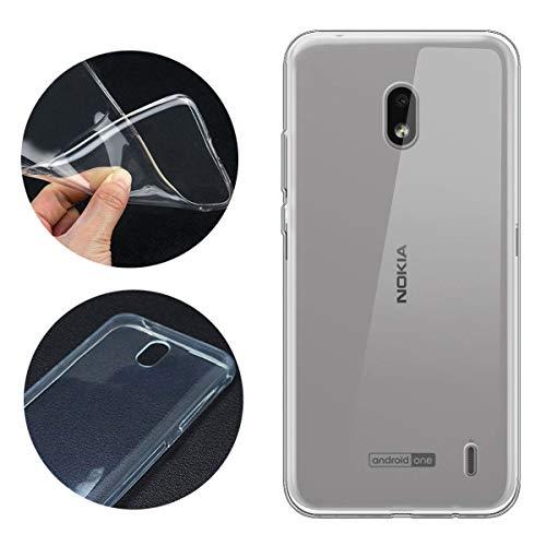 LJSM Hülle für Nokia 2.2 Weiche Handyhülle Transparent TPU Silikon Schutzhülle Durchsichtig Klar Tasche Handytasche Cover Schale Hülle für Nokia 2.2 2019 (5.71