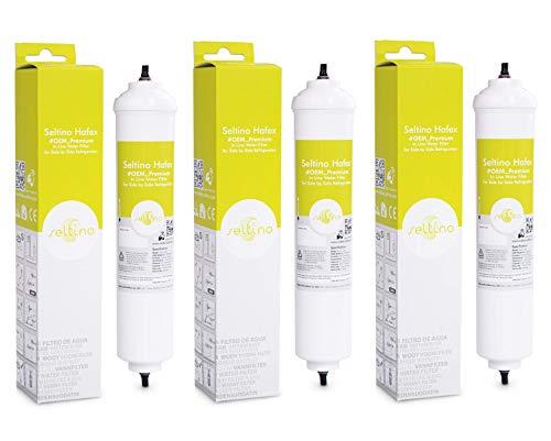 3x Seltino HAFEX, compatibel waterfilter zoals Samsung DA29-10105J, Hoge kwaliteit Premium InLine waterfilter