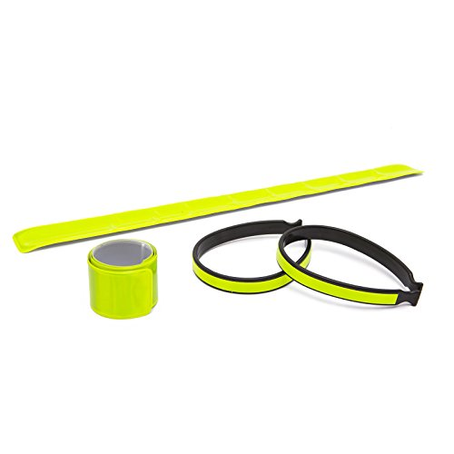 57260 Bicycle Reflective 2x Arm Band & 2x Trouser Clip Set Hi Vis Bike Safety by Delight