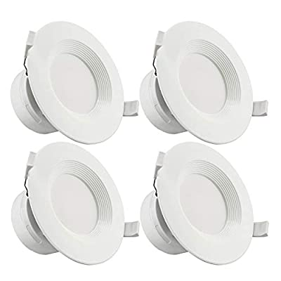 TORCHSTAR Recessed Downlight with Junction Box,Dimmable LED Ceiling Light Fixture, IC-Rated & Air Tight, Wet Location, UL-Listed, 5 Years Warranty