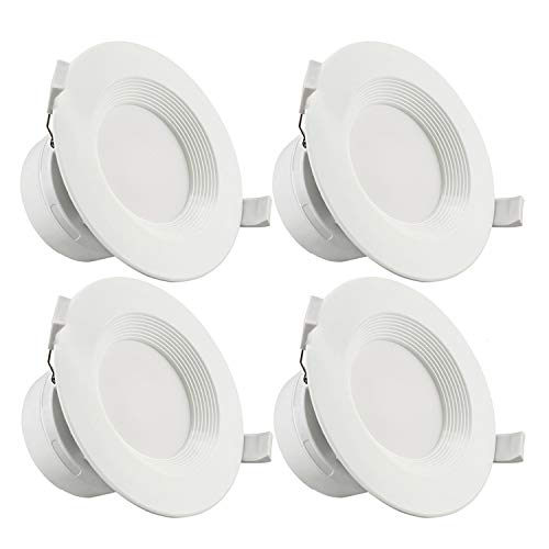 TORCHSTAR 4 Inch LED Recessed Downlight with Junction Box, 7W (60W Eqv.) Dimmable LED Ceiling Light Fixture, IC-Rated & Air Tight, Wet Location, 5000K Daylight, UL-Listed, 5 Years Warranty, Pack of 4